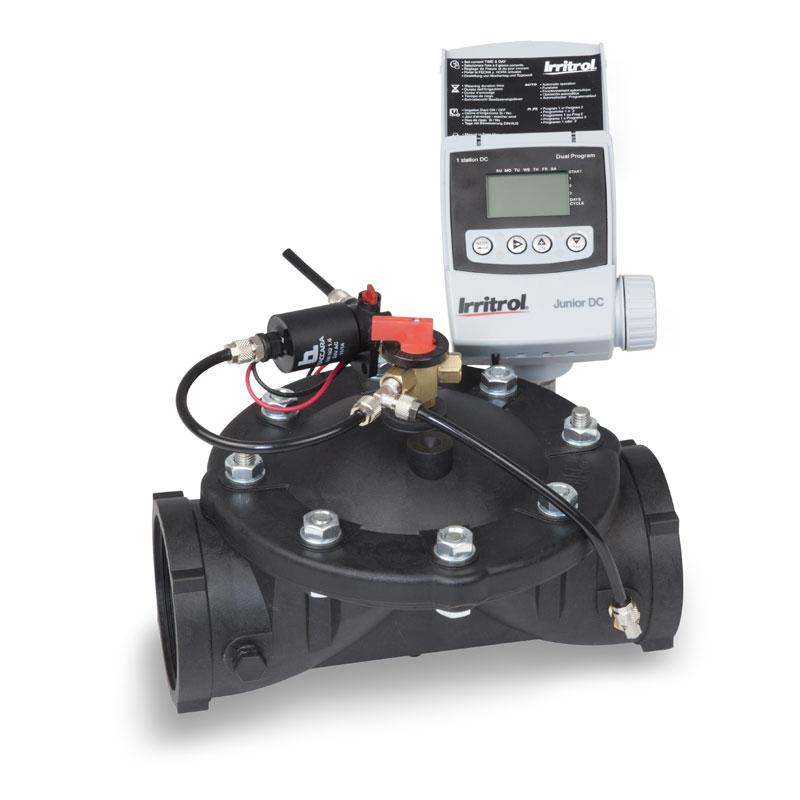 Electric plastic valve with controller - AGP VálvulasAGP